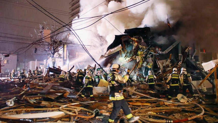 Japan restaurant explosion: Dozens injured in Sapporo's Toyohira district today