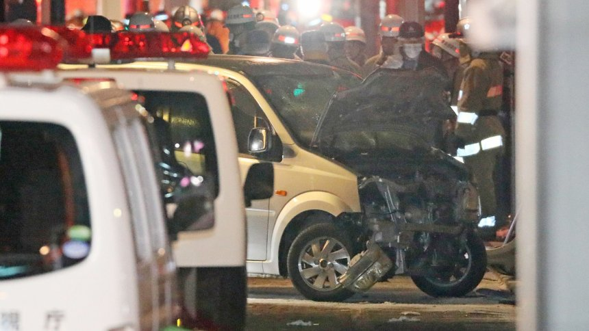 Van slams into pedestrians on Tokyo road, injuring 8 people