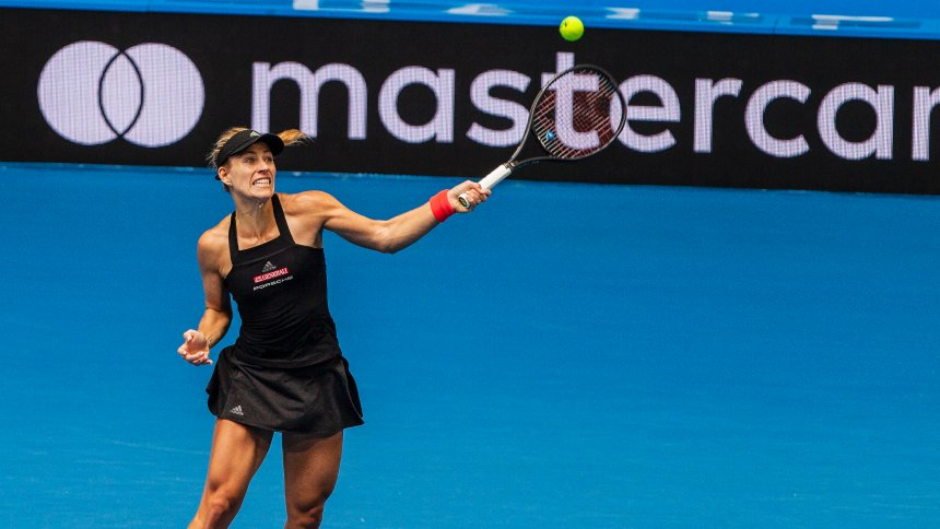 Tennis Kerber And Zverev Before The Final At The Hopman Cup The